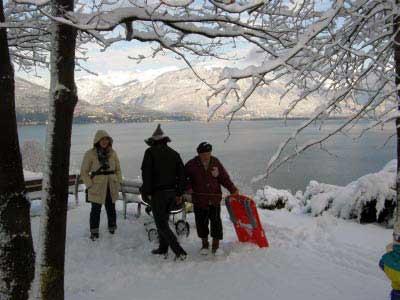 Schnee-Ausflug