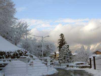 Schnee in Pino