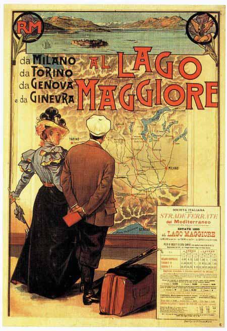 Bahnlinien Lago Maggiore 1899