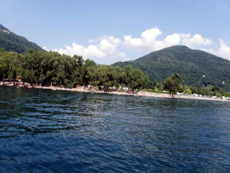 Strand in Maccagno