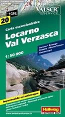 Hallwag Locarno - Val Verzasca - Wanderkarte
