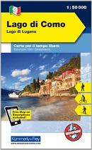 Outdoorkarte Lago di Como, Lago di Lugano
