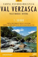 Swisstopo Wanderkarte - Val Verzasca, Valle Maggia, Riviera