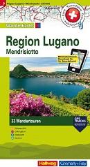 Wanderkarte Region Lugano, Mendrisiotto