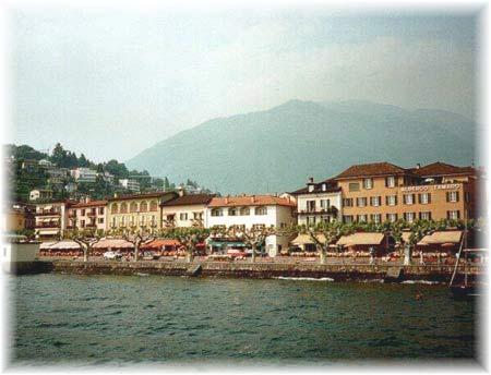 Die See-Promenade von Ascona am Rande des Stadtzentrums
