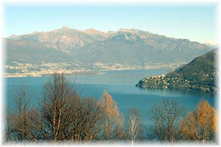 Ausblick auf Pino Lago Maggiore und Ascona