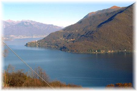 Lago Maggiore Ferien - Traumblick auf Pino Lago Maggiore, Tronzano L.M. und Bassano