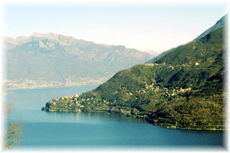 Blick auf Pino Lago Maggiore, Tronzano L.M. und Bassano