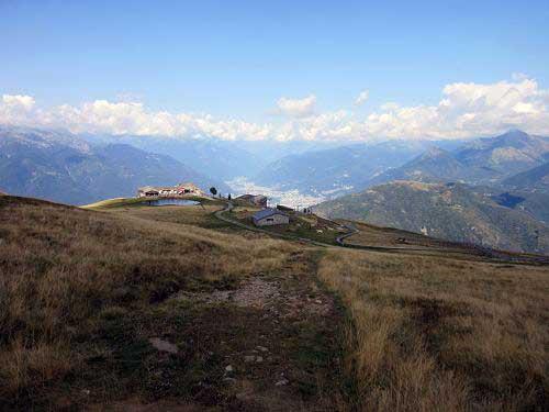 Blick zurück Monte Tamaro