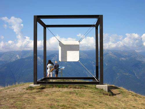 Suspended cube
