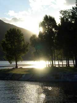 Sonnenuntergang in Maccagno, Lago Maggiore