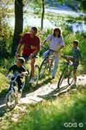 Fahrradausflug mit der Familie